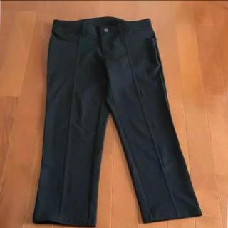 ベルメゾン(ベルメゾン)のキレイめ パンツ ブラック Mサイズ 美品 ベルメゾン(クロップドパンツ)
