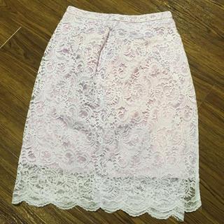 ビッキー(VICKY)のVICKY レースタイトスカート(ひざ丈スカート)