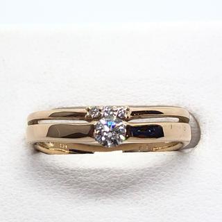 K18YG ダイヤモンド リング  D:0.19ct(リング(指輪))