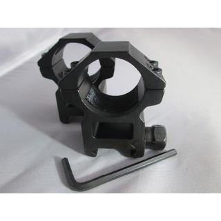 マウントリング ダブルナット 高さ18mm 20mmレイル対応(モデルガン)