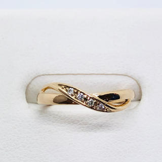 ヨンドシー(4℃)の4℃(ヨンドシー) K18PG ダイヤモンド付きピンキーリング(リング(指輪))