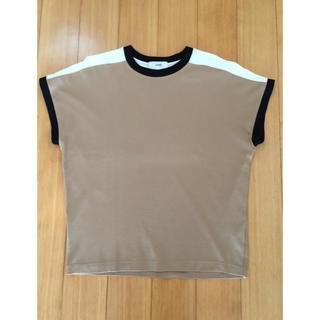 ハイク(HYKE)の美品☆HYKE バイカラー ノースリーブ シャツ サイズ1 ハイク(Tシャツ(半袖/袖なし))