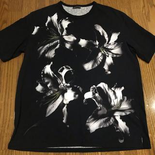 ラッドミュージシャン(LAD MUSICIAN)のラッドミュージシャン ビッグtシャツ リリィ 花柄 新品(Tシャツ/カットソー(半袖/袖なし))