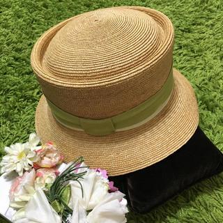 フォクシー(FOXEY)の美品フォクシー❤︎レディ麦わら帽子(麦わら帽子/ストローハット)