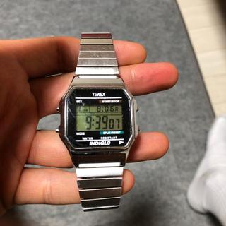 タイメックス(TIMEX)のTIMEX タイメックス シルバー casio チープカシオ(腕時計(アナログ))