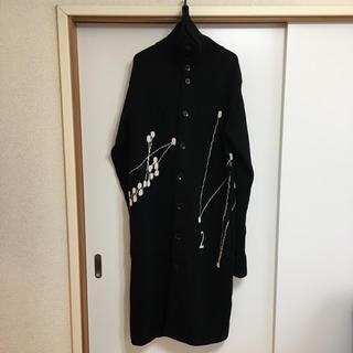 ヨウジヤマモト(Yohji Yamamoto)の14AW 点字ロングニットカーディガン ヨウジヤマモト プールオム (カーディガン)
