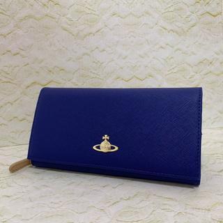 ヴィヴィアンウエストウッド(Vivienne Westwood)の折り長財布 ブルー ヴィヴィアンウェストウッド(財布)