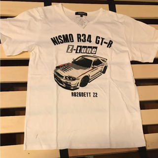 ニッサン(日産)のニッサン スカイライン GTR  R34 メンズ 車 Tシャツ(Tシャツ/カットソー(半袖/袖なし))