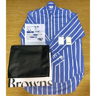 バレンシアガ(Balenciaga)の希少袖ロゴモデル☆ VETEMENTS striped cotton shirt(シャツ)
