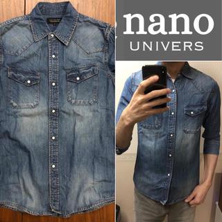 nano・universe - nano 七分袖デニムシャツ メンズ 送料込