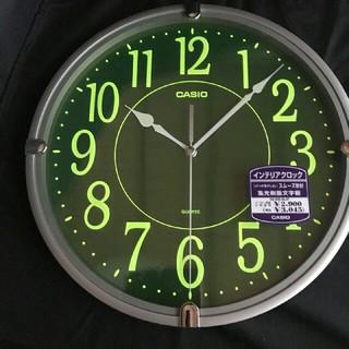 カシオ(CASIO)のCASIO 壁掛け時計 メタリックシルバー(掛時計/柱時計)
