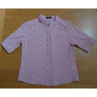 アルファキュービック(ALPHA CUBIC)のDECOY デコイ ギンガムチェック ブラウス 11号(L)(Tシャツ(半袖/袖なし))