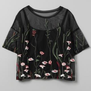 ジーナシス(JEANASIS)のジーナシス / 花チュール刺繍(シャツ/ブラウス(半袖/袖なし))