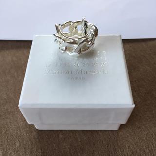 マルタンマルジェラ(Maison Martin Margiela)の19SS新品L マルジェラ シルバー チェーンリング 今期(リング(指輪))