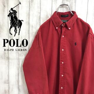 ラルフローレン(Ralph Lauren)の90s 古着 ラルフローレン ワンポイント刺繍ロゴ ビッグ 長袖 BDシャツ(シャツ)