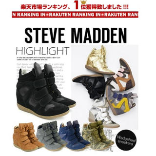 スティーブマデン(Steve Madden)のスティーブマデン インヒールスニーカー  ブラック  アズール マウジー ザラ(スニーカー)