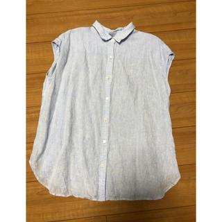ニジュウサンク(23区)の磯野ワカメ様専用 23区 サイズ48 LIBECO シャツ 大きいサイズ(シャツ/ブラウス(半袖/袖なし))