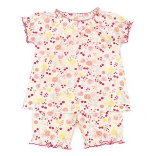 クーラクール(coeur a coeur)の美品✴︎クーラクール 半袖パジャマ 95 アイボリー(パジャマ)