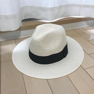 ウィゴー(WEGO)のWEGO 白 ストローハット(麦わら帽子/ストローハット)
