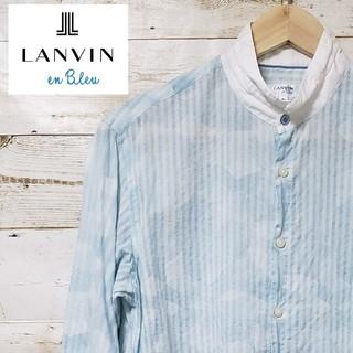 ランバンオンブルー(LANVIN en Bleu)のLANVIN en bleu スタンドカラー 七分袖シャツ(シャツ/ブラウス(長袖/七分))