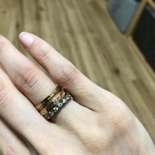 ブルーム(BLOOM)のリング ピンクゴールド セット 5/7号(リング(指輪))
