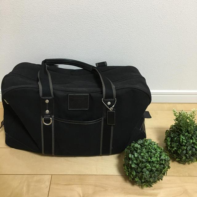 COACH(コーチ)のコーチ ボストンバッグ 男女兼用 飽きのこない黒色 美品 メンズのバッグ(ボストンバッグ)の商品写真