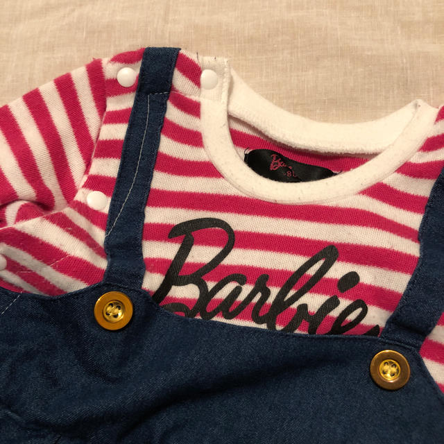 Barbie(バービー)のバービー ロンパース 長袖 キッズ/ベビー/マタニティのベビー服(~85cm)(ロンパース)の商品写真