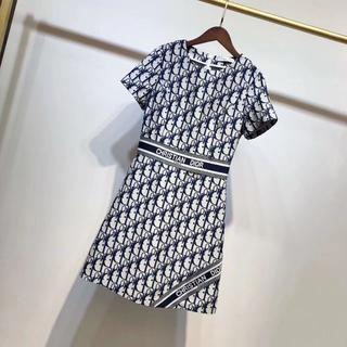 クリスチャンディオール(Christian Dior)のChristian Dior 市松模様ワンピース(ひざ丈ワンピース)