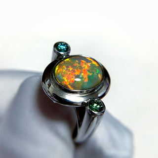 プラチナオパール指輪(リング(指輪))