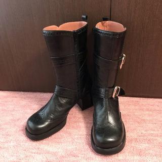 あしながおじさん - 【新品】あしながおじさん ショートブーツ黒/ブラック 23.5cm