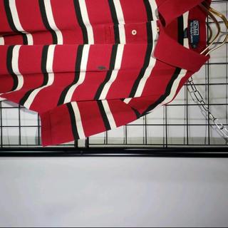 ラルフローレン(Ralph Lauren)のRALPH LAUREN XL 赤白黒ボーダー wilywnka ポロシャツ(ポロシャツ)