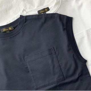 ドゥロワー(Drawer)のDrawer ドゥロワー フレンチスリーブカットソー ノースリーブ ポケット(カットソー(半袖/袖なし))