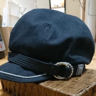 シマムラ(しまむら)のまゆみさん専用です。 帽子セット 黒とベージュ(キャスケット)