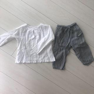 キャラメルベビー&チャイルド(Caramel baby&child )のCARAMEL シャツとリネンパンツセット(パンツ)