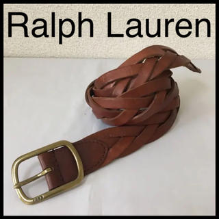 ラルフローレン(Ralph Lauren)の◆Ralph Lauren ラルフローレン◆レザー ベルト 編上げ メッシュ 茶(ベルト)