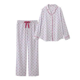 ジーユー(GU)のGU ハートパジャマ 半袖(パジャマ)