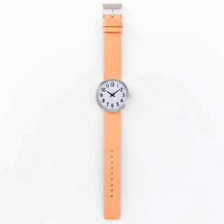 ムジルシリョウヒン(MUJI (無印良品))の【新品】MUJI WRIST WATCH 腕時計・公園の時計・大 バンド:ヌメ革(腕時計)