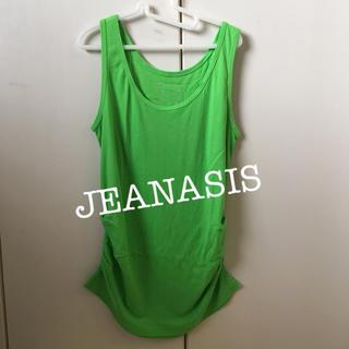 ジーナシス(JEANASIS)のジーナシス☆裾シャーリングタンク(タンクトップ)