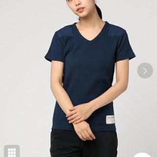アヴィレックス(AVIREX)の最終値下げ 新品 アヴィレックス  Vネック Tシャツ ネイビー(Tシャツ(半袖/袖なし))