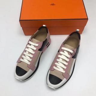 エルメス(Hermes)のHERMES エルメス 靴/シューズ スニーカー  ピンク サイズ35(スニーカー)