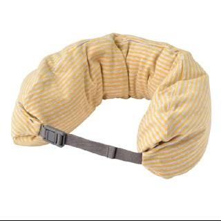 ムジルシリョウヒン(MUJI (無印良品))の無印良品 フィットするネッククッション・くびれ型 杢マスタード×グレー(旅行用品)