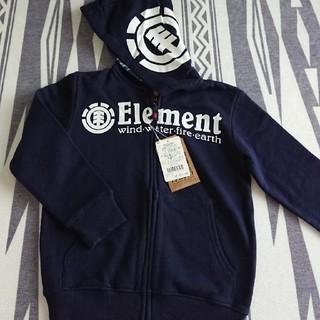 エレメント(ELEMENT)のエレメント  紺ロゴパーカー 新品☆ たぐつき(ジャケット/上着)