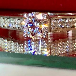 カルティエ(Cartier)のシーサー様専用!カルティエ 1895 ソリテール パヴェ リング 0.42ct!(リング(指輪))