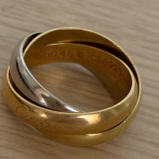 カルティエ(Cartier)の正規品 カルティエ トリニティ 3連 リング k18(リング(指輪))