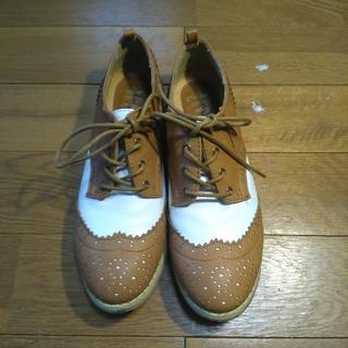 シマムラ(しまむら)の【週末限定】メダリオンシューズ ブラウン Lサイズ(ローファー/革靴)