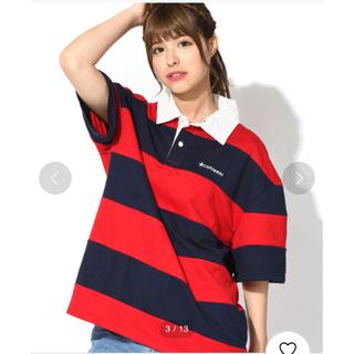 ウィゴー(WEGO)のWEGO CONVERSE ボーダー ポロシャツ Tシャツ(ポロシャツ)