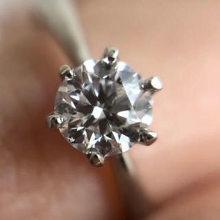 pt900 一粒ダイヤ リング 婚約指輪(リング(指輪))
