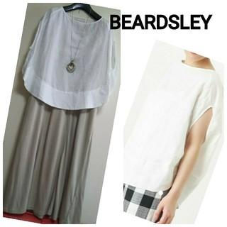 ビアズリー(BEARDSLEY)の⭐️BEARDSLEY⭐️ビアズリー⭐️リネン サークル プルオーバー(シャツ/ブラウス(半袖/袖なし))