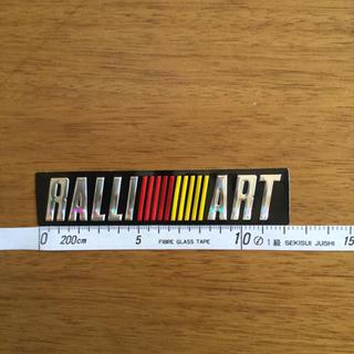 ミツビシ(三菱)のRALLI ART ラリーアート 高級 ステッカー 三菱 MITSUBISHII(車外アクセサリ)