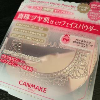 キャンメイク(CANMAKE)のCANMAKE トランスペアレントフィニッシュパウダー パールピンク(フェイスパウダー)